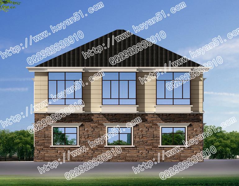 2017新款农村二层别墅设计图12x11