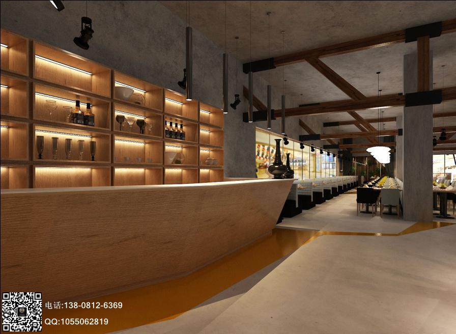 青岛西恩牛排欢乐自助餐厅设计-成都自助餐厅设计|成都专业餐厅设计