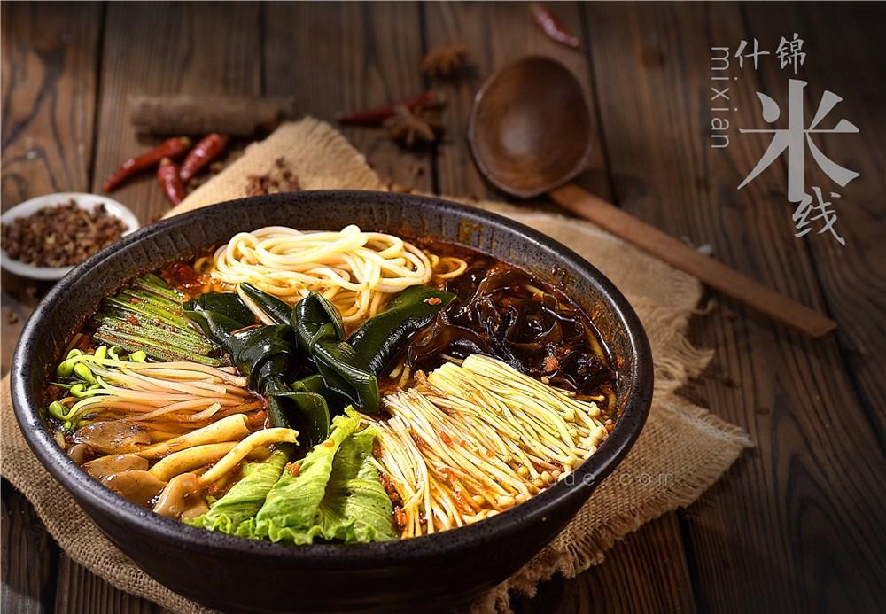 川味小吃拍摄  火锅米线