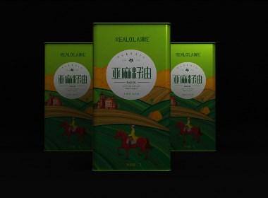 亚麻籽油国外系列风格包装设计