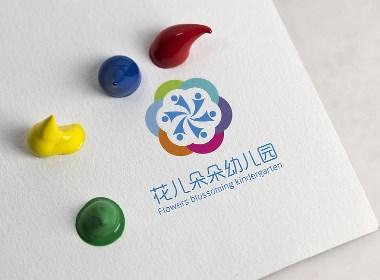 花儿朵朵幼儿园logo设计