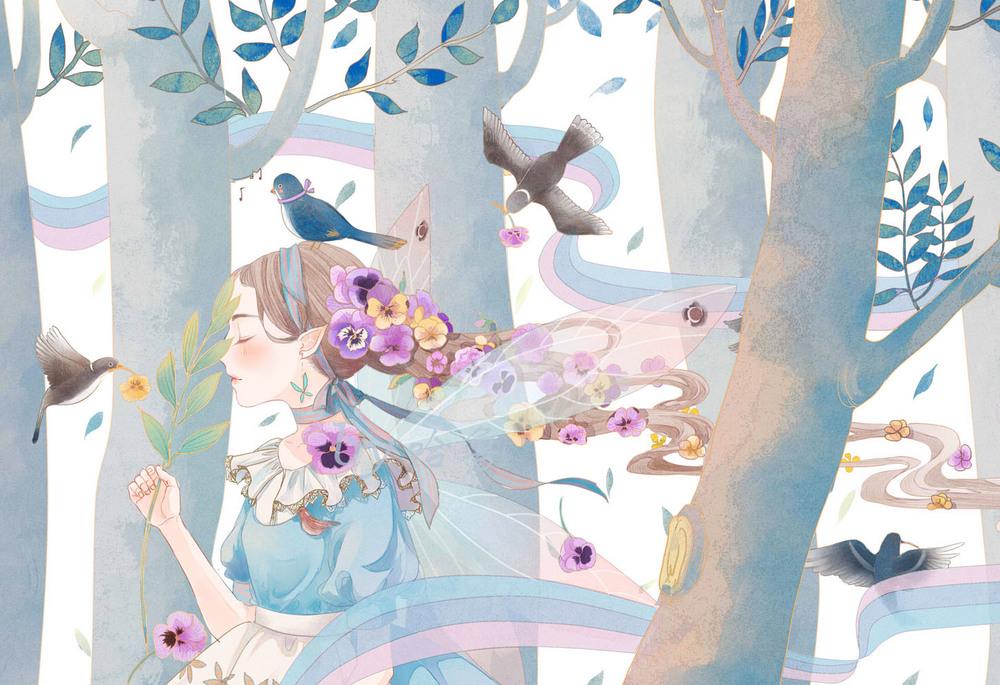 绘馆小森林里的图—插画欣赏