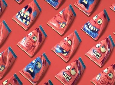 Zombis僵尸灵感的冰淇淋品牌包装设计