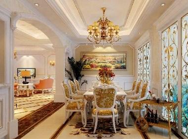 郑州高端别墅瀚海晴宇240平法式风格五室两厅装修样板间