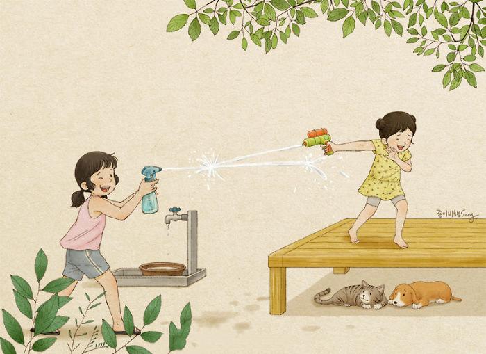 童年回忆——姐妹篇