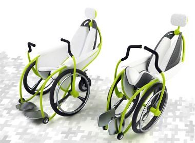 现代折叠轮椅