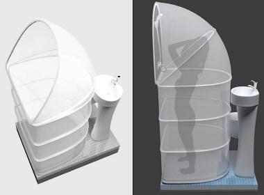 Rups折叠淋浴器
