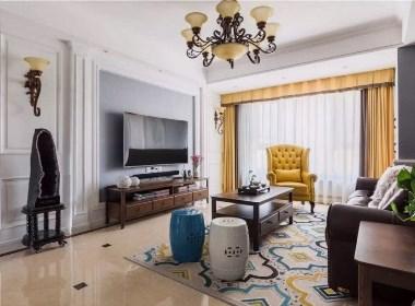 三房两厅崇休闲、浪漫、随性的美式风格