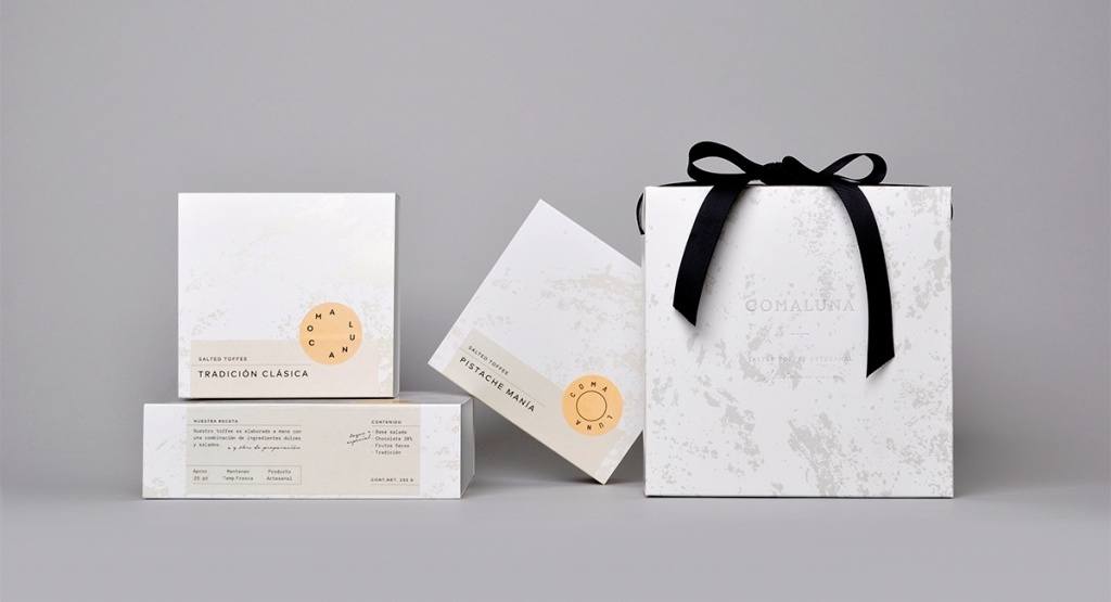 comaluna糕点店品牌和包装设计