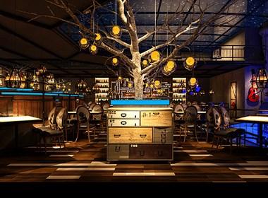 蓝蒲新概念花园餐厅-吉林花园餐厅设计|吉林江湖菜餐厅设计公司|吉林长春特色连锁餐厅设计公司