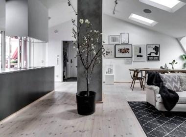 质感公寓案例,经典的黑白灰!--欧模网