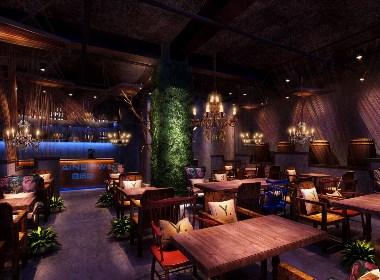 天津彩虹烧烤-吉林餐厅设计|长春餐厅设计公司|吉林餐厅装修|吉林工业风餐厅设计公司