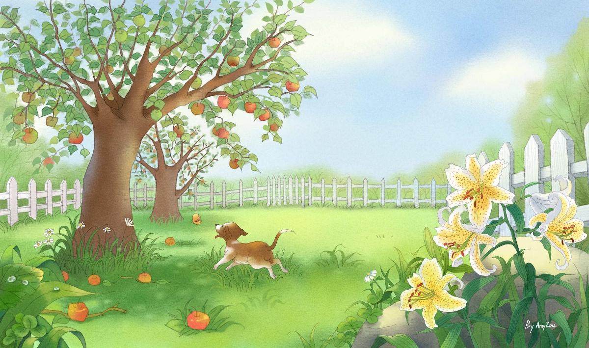 绘本《院子里有什么》