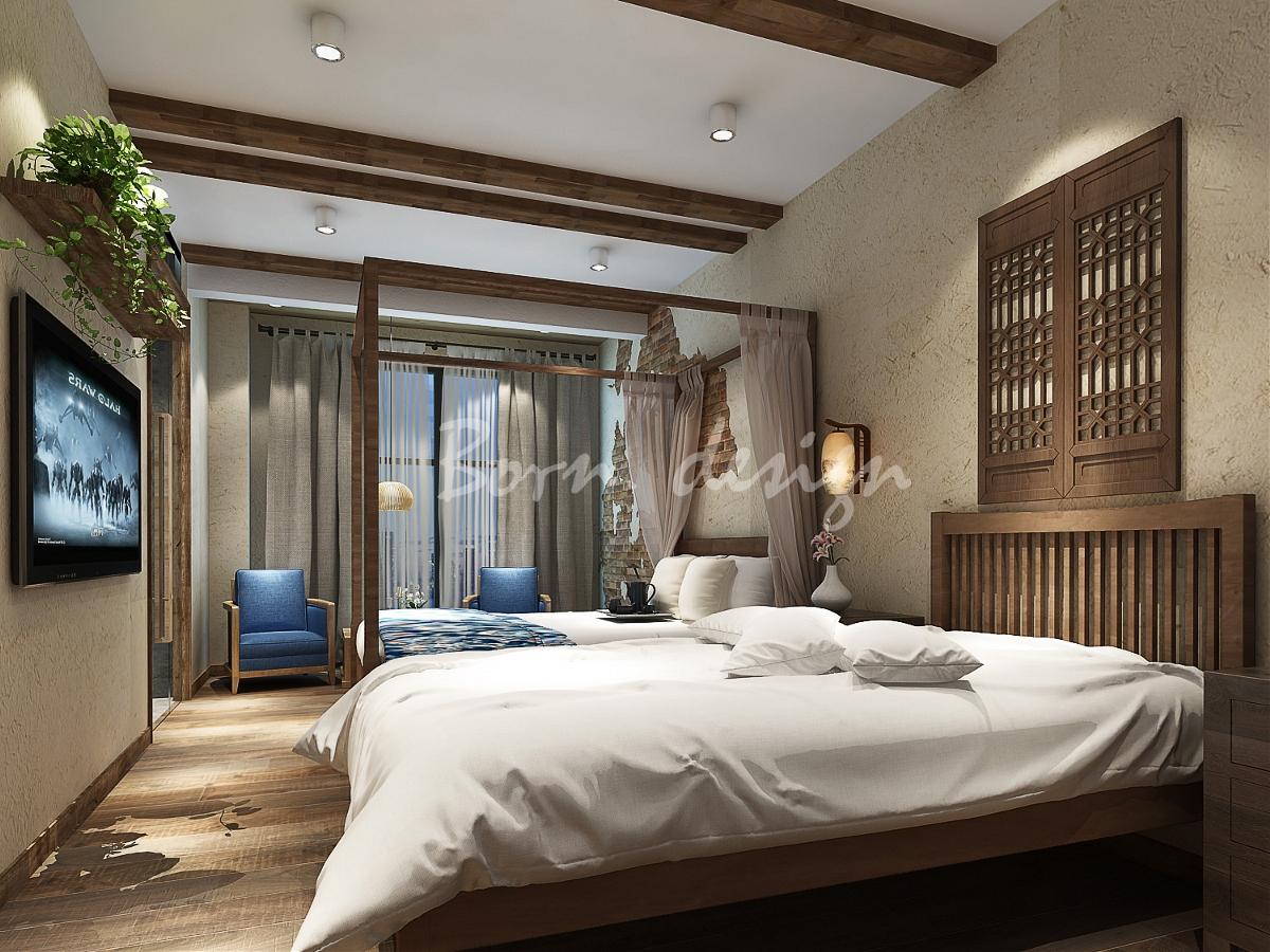 阜阳民宿房屋v民宿案例分析自建房两层酒店14万左右设计图图片