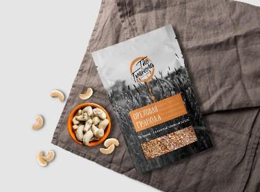 燕麦的标志和包装设计
