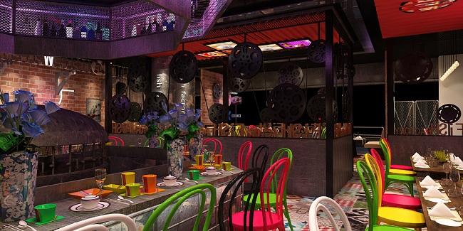 时尚海鲜主题餐厅-恩施海鲜餐厅设计|恩施餐厅装修|恩施主题餐厅设计