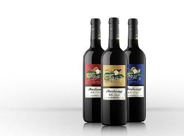 沙庄,色彩庄园红酒品牌全案开发设计,红酒包装设计--------古一设计