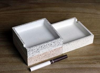 【初牛】原创纯手工水磨石烟灰缸