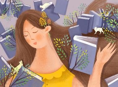 书香森林—插画欣赏