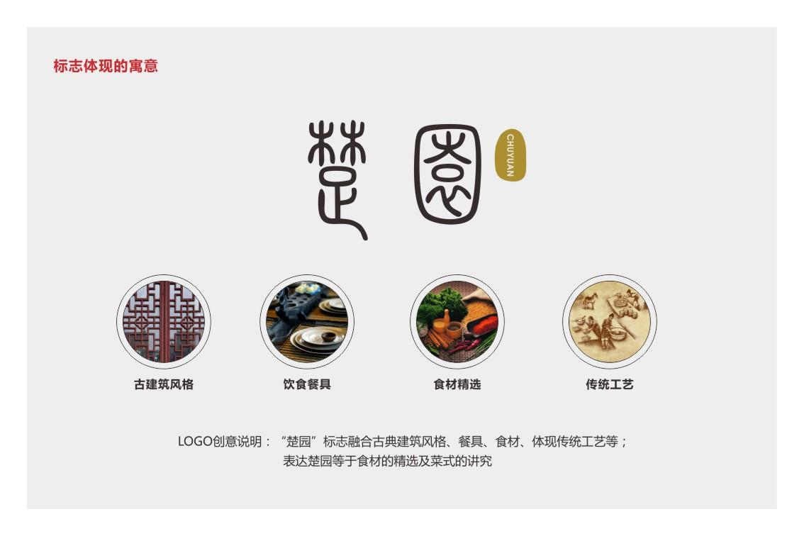 楚园餐饮品牌整体VI形象设计