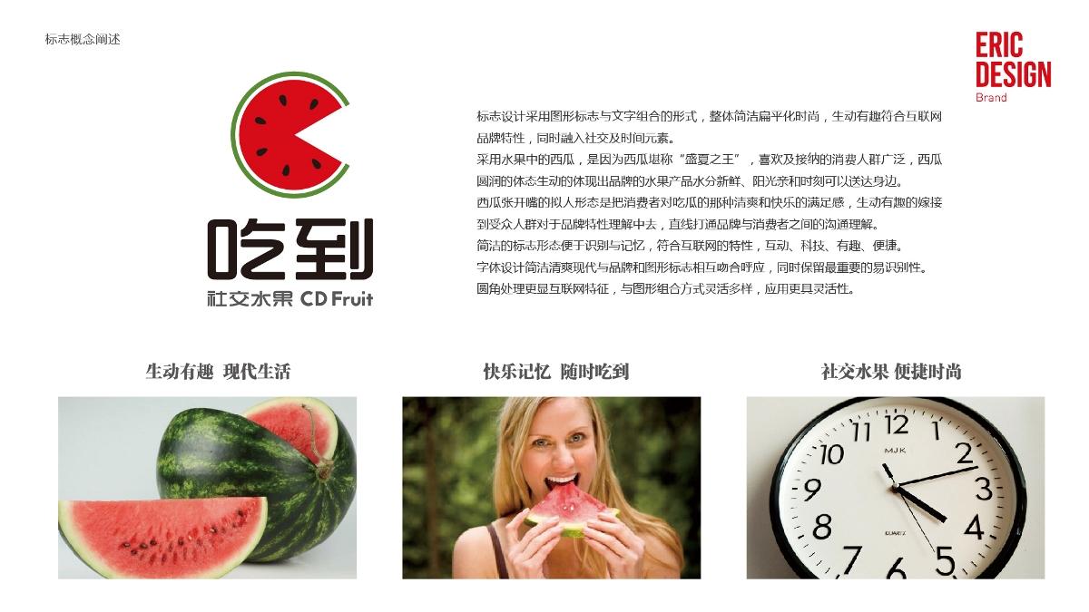 吃到互联网水果销售平台APP品牌标志设计