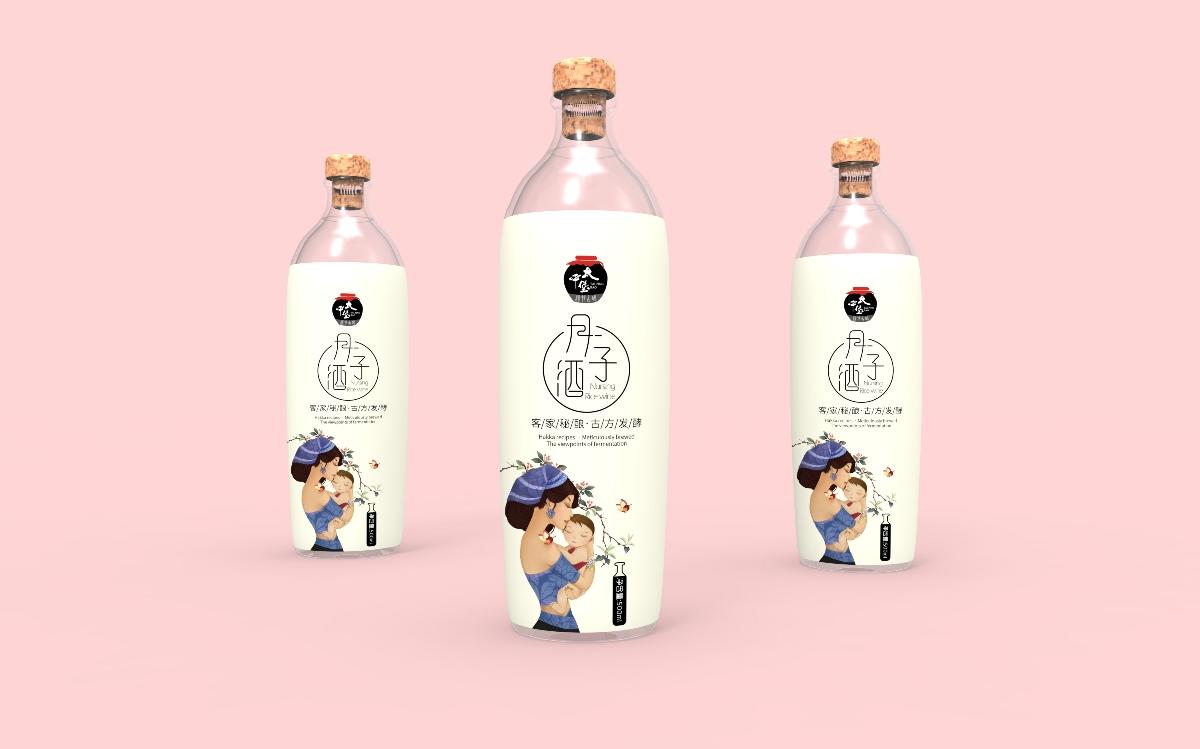 月子酒包装设计 客家黄酒 月子米酒 月子米酿 酒水包装 饮品包装 女性产品