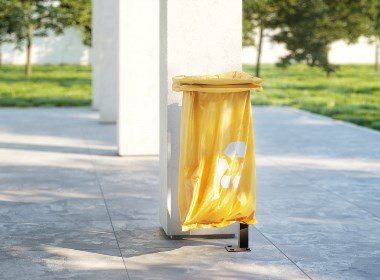 易于服务的垃圾桶