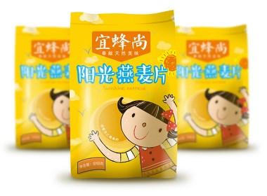 阳光燕麦片包装设计