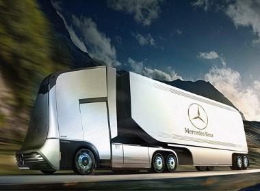奔驰半自动驾驶卡车