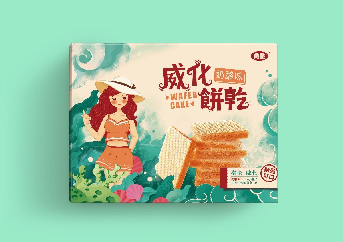 臺灣尚發-威化餅乾系列包装