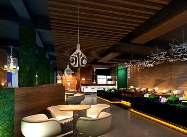 邛崃咖啡厅装修公司案例赏析-水木年华咖啡厅