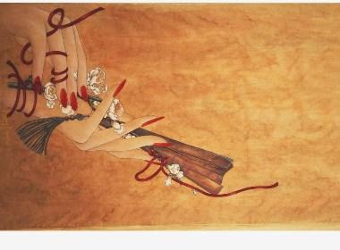 【原创】《观花以致1》  工笔花鸟   淡彩
