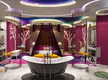犀浦主题酒店设计方案表现图—水木源创设计