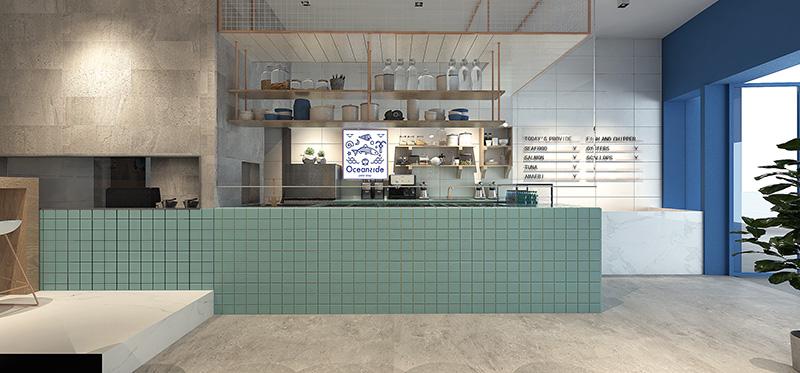 抵不住那透心的清爽-轻食餐厅设计
