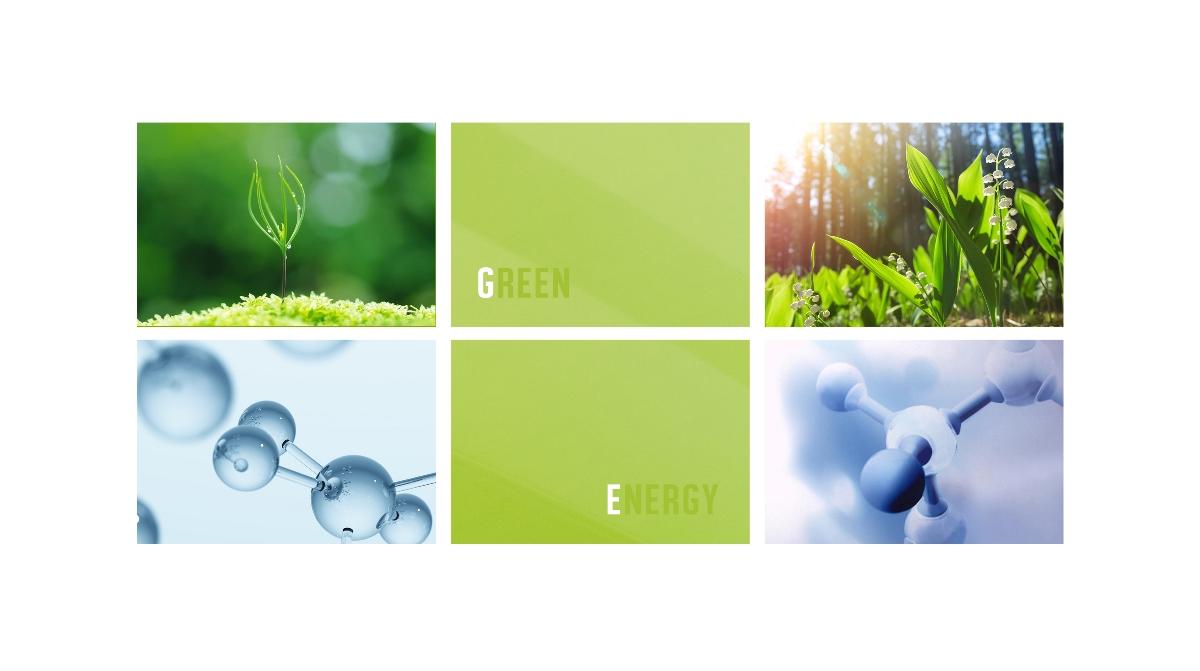 绿能量空气净化器logo设计提案