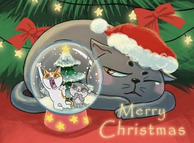 没喵病CatF3_圣诞快乐Merry Christmas~