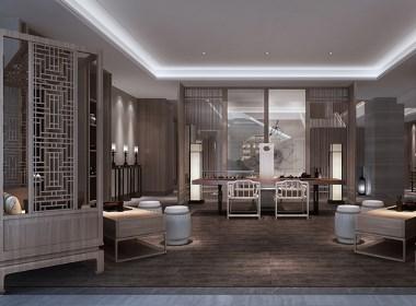 新中式的禅意茶楼装修设计,成都茶楼装修设计公司