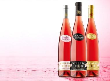 坤爵紅酒品牌全案設計,紅酒包裝設計,酒標簽禮盒包裝設計,古一設計