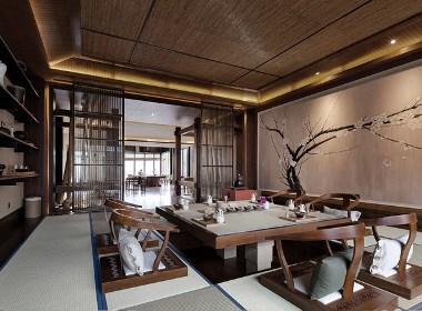 汤泉茶艺会馆-成都茶楼装修设计,成都茶艺馆装修设计