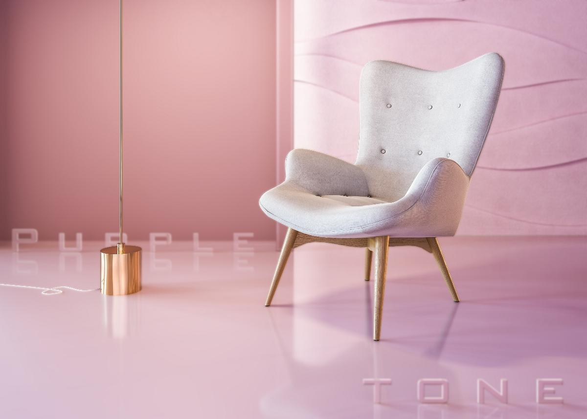 Purple tone椅子工业设计