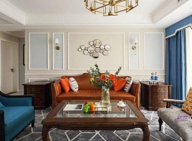 传统美式-舒适、简练、清雅的空间氛围
