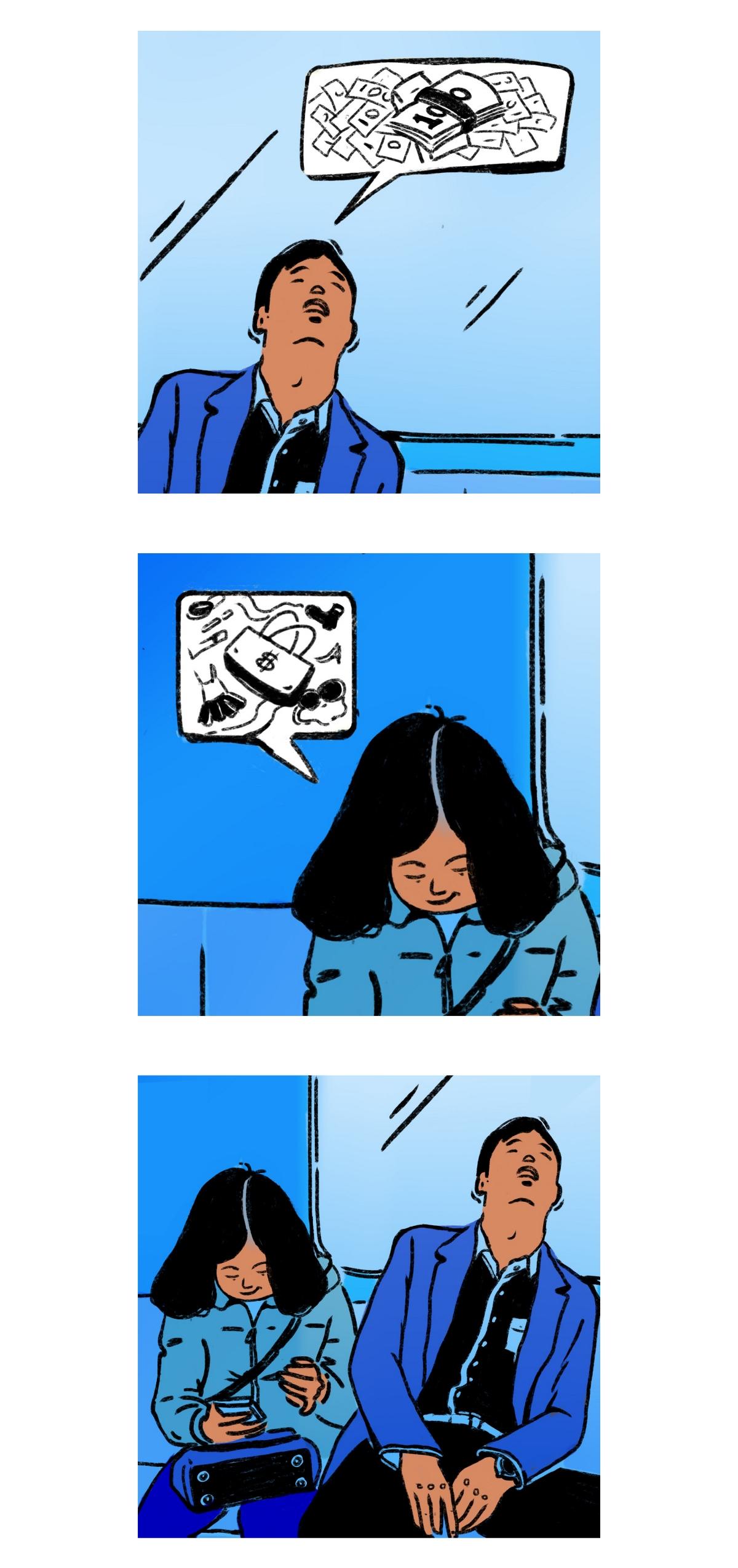 神游的日子-地铁情侣