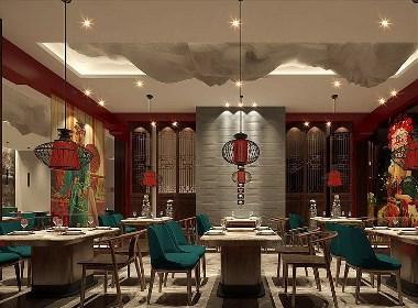 西安火锅店设计,西安火锅店装修设计公司《辣都麻府》