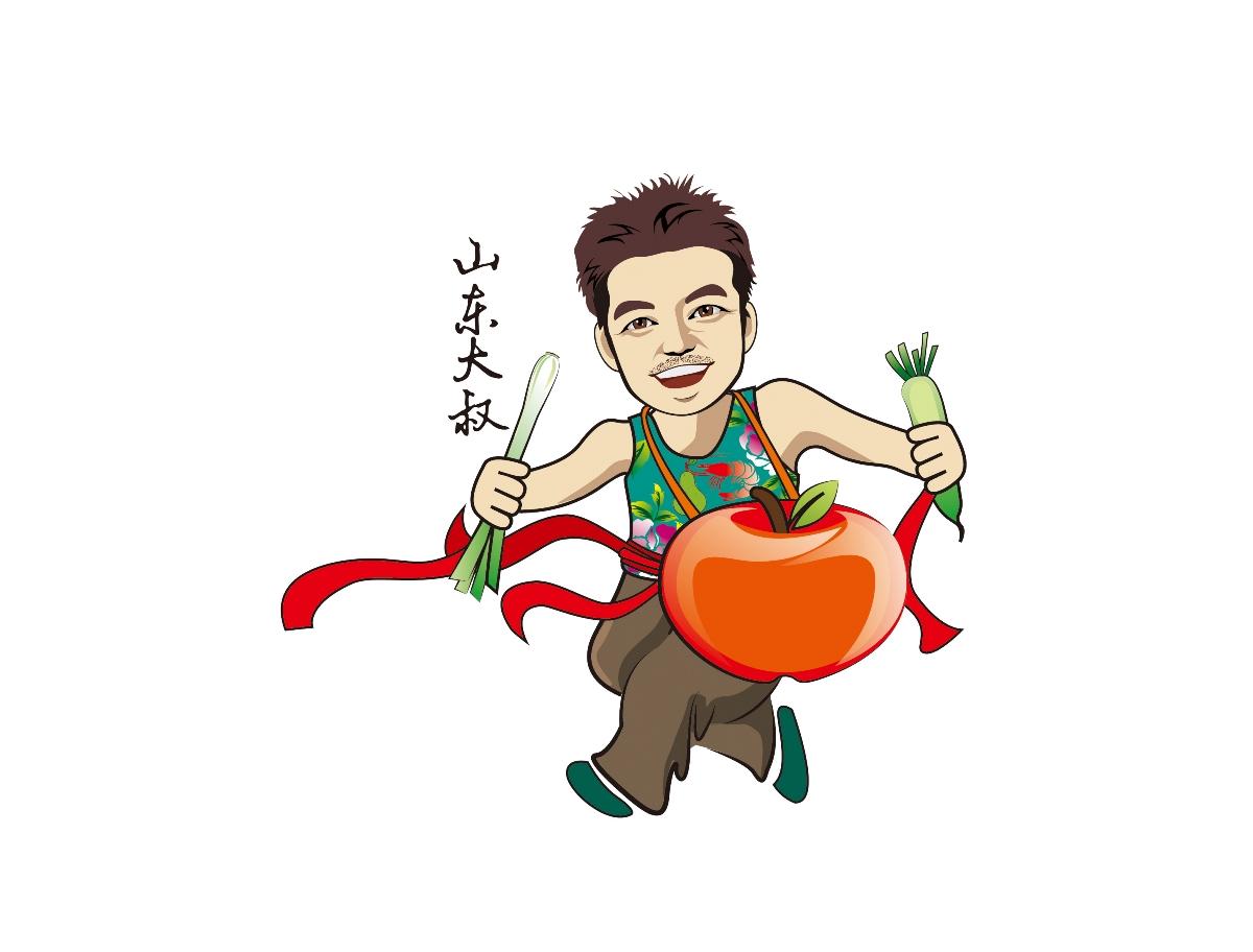 农产品品牌设计/标志卡通吉祥物设计/惟乔品牌