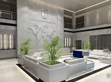 公司大门及大厅空间设计