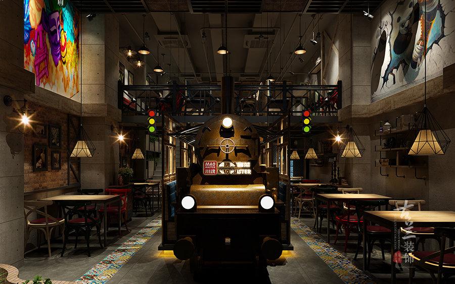 《川魂冒牌货连锁冒菜店(龙湖店)》-成都餐厅设计公司丨成都餐厅装修