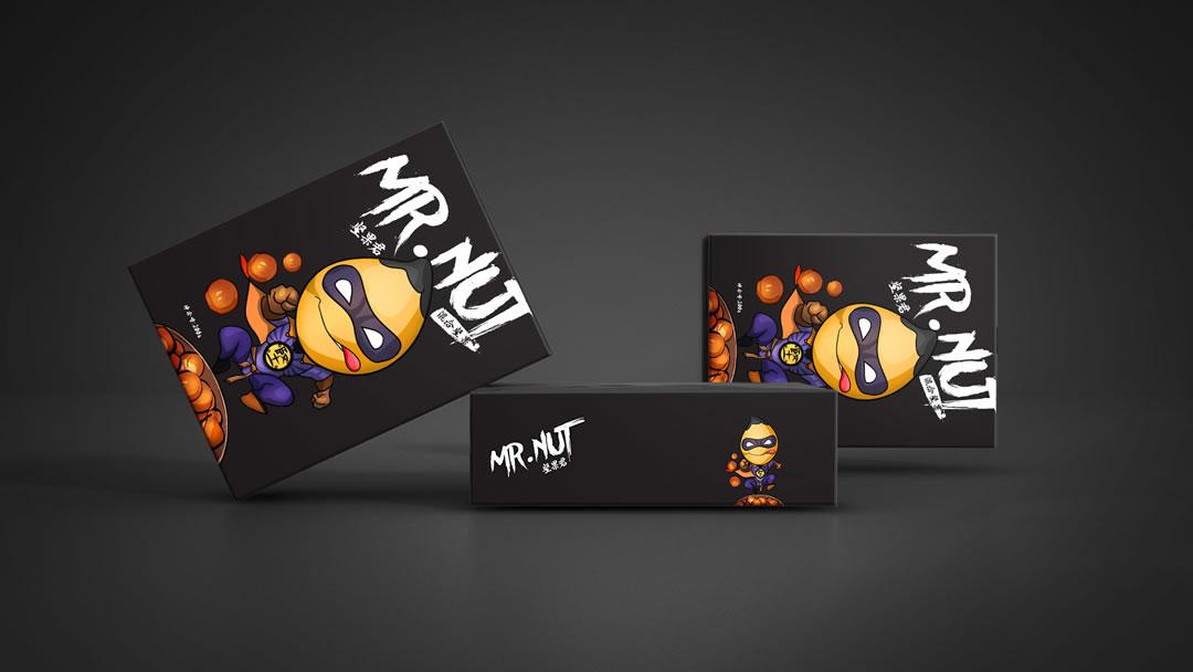 坚果品牌logo与包装设计-坚果君