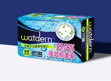 Watdern多离子洁面美容湿巾包装设计 | 摩尼视觉原创