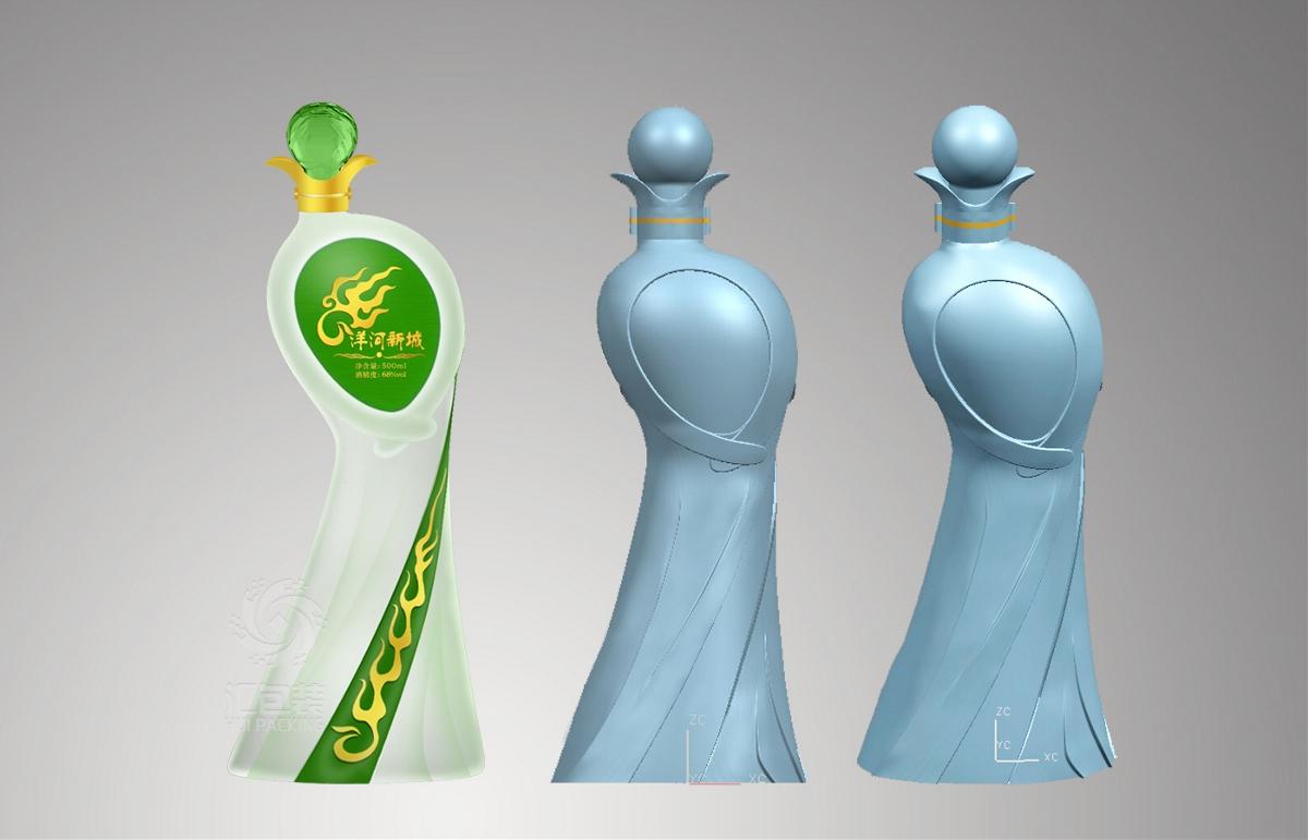 【汇包装】洋河新城美人瓶包装设计