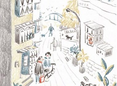 旅行插画欣赏
